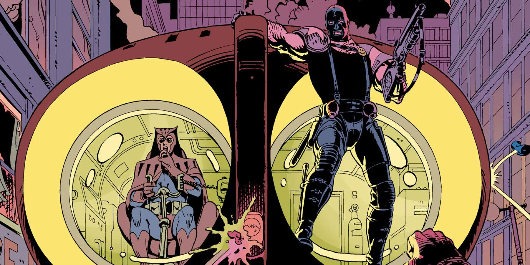 the contrast between the ozymandias and rorschachs in the watchmen by alan moore In 1986, producers lawrence gordon and joel silver acquired film rights to watchmen for 20th century fox after author alan moore declined to write a screenplay based on his story, fox enlisted screenwriter sam hamm.