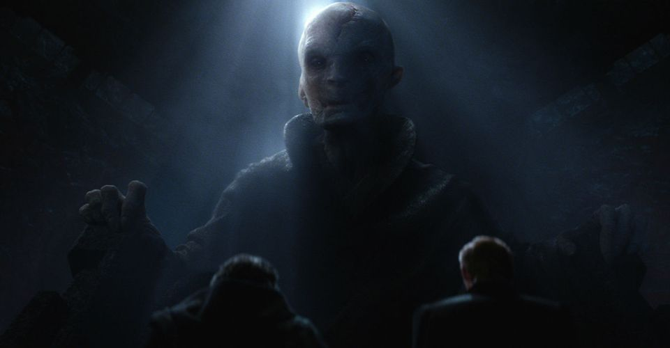 Star Wars The Last Jedi Photo Of Supreme Leader Snoke Is Frightening