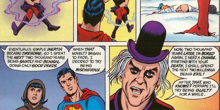 whatever happened to the man of tomorrow - Las 15 bromas más locas que Mr. Mxyzptlk le ha hecho a Superman