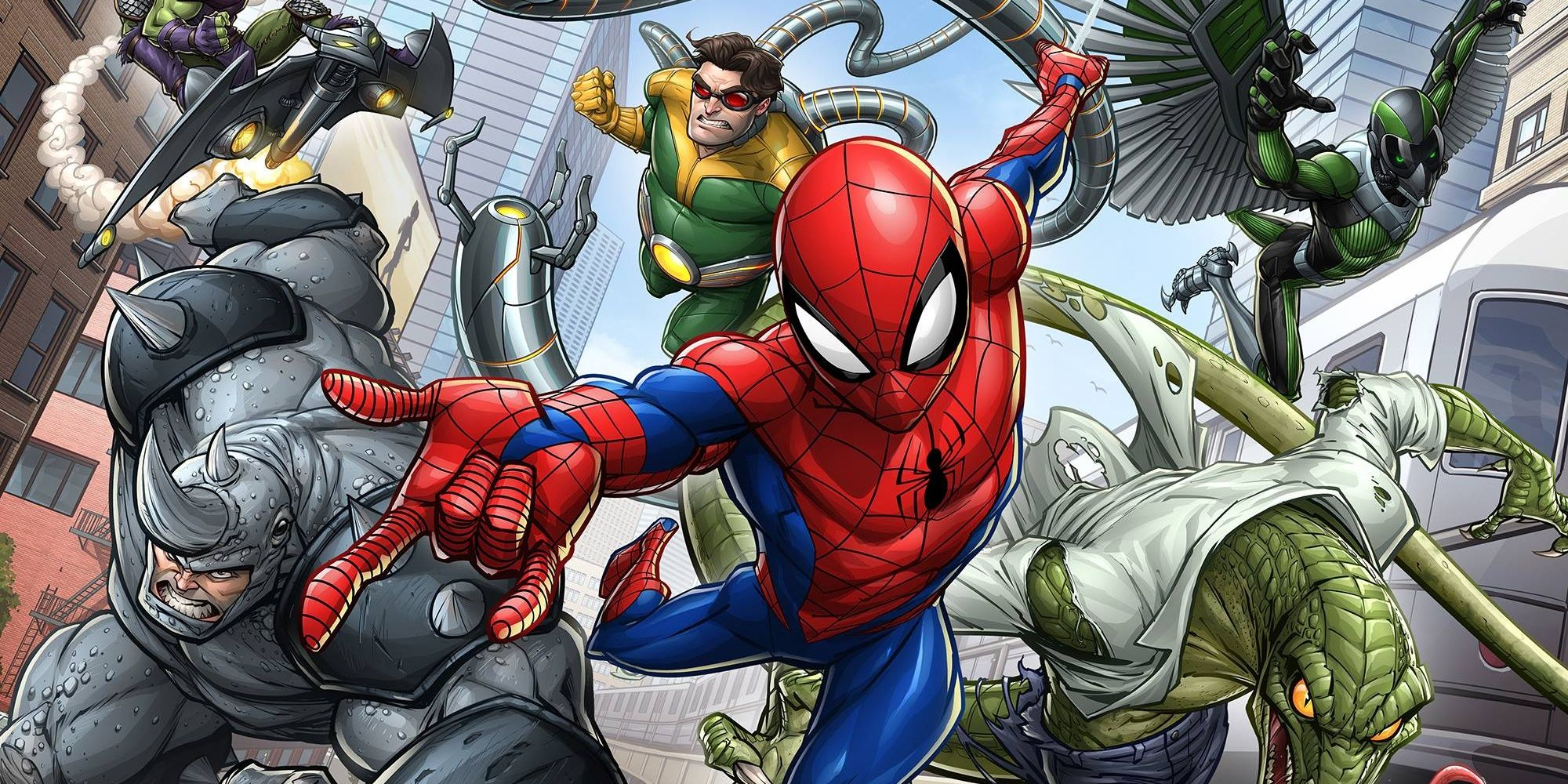 Spider-Man Animated Series Promo Art Teases Rogues Gallery