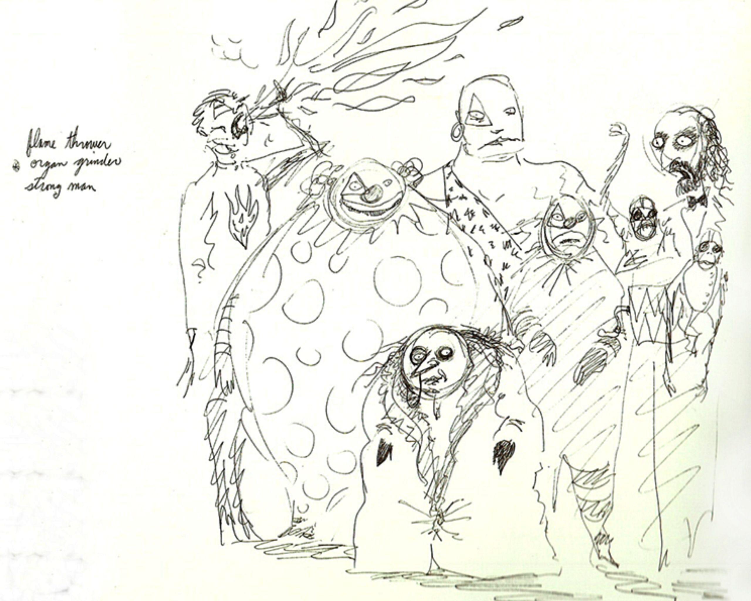 Batman 3 Tim Burton Concept Art