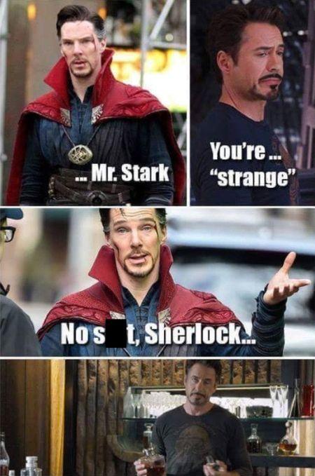 Dr. Strange & Iron Man meme