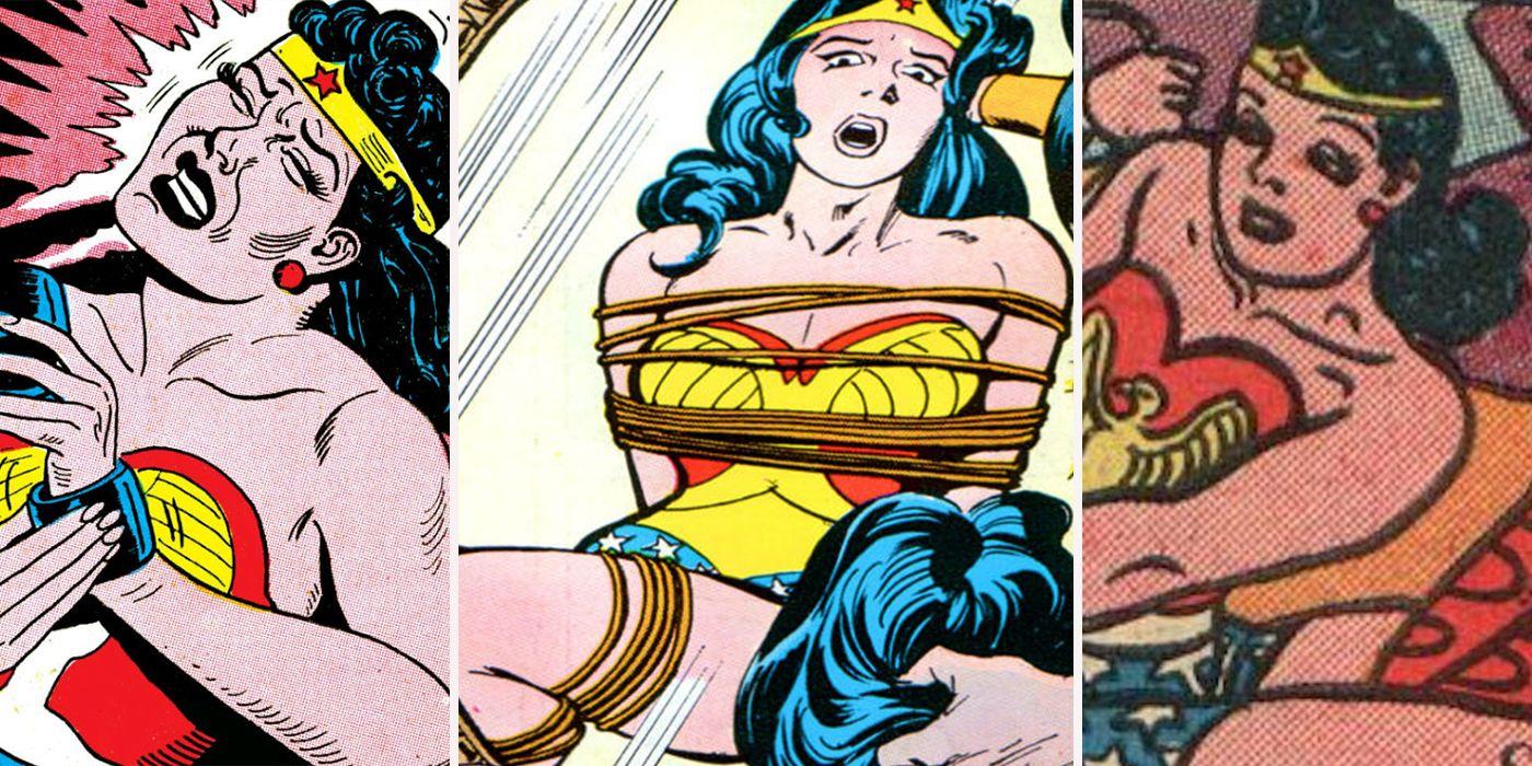 Wonder woman spanked