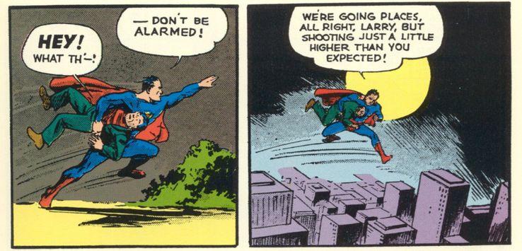 superman002 06 Superman jumping and not flying - Cinco mitos sobre los poderes de Superman y cinco que en realidad son ciertos