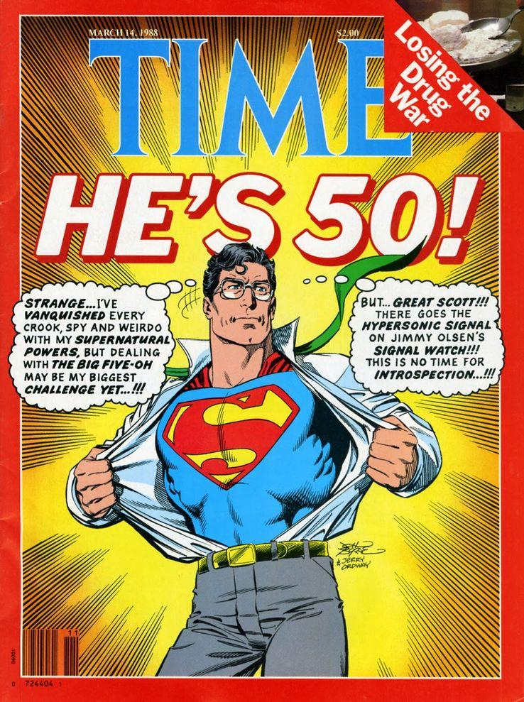time magazine 1988 superman 50th - Hoy es el cumpleaños de Superman