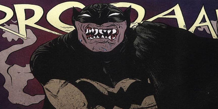 Vampire teeth of batman
