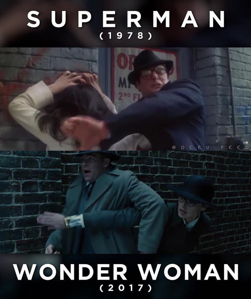 Superman 1978 vs Wonder Woman 2017 Scenes
