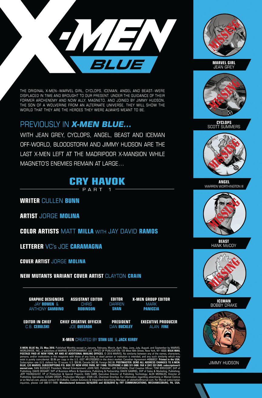 X Men Blue 23 Preview