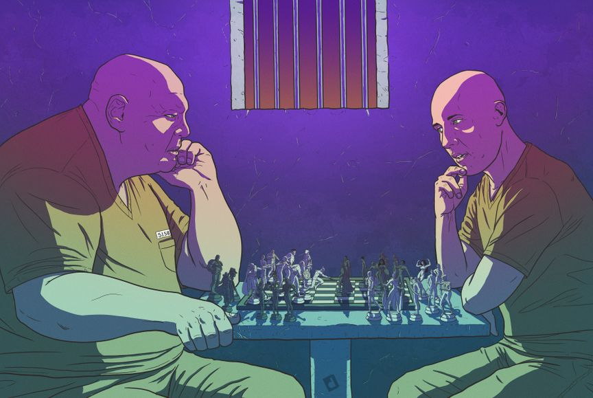 Lex Luthor Playing Chess with Wilson Fusk