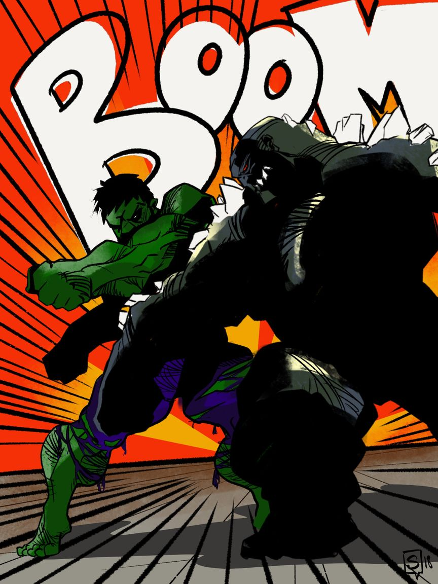 DOOMSDAY fighting HULK