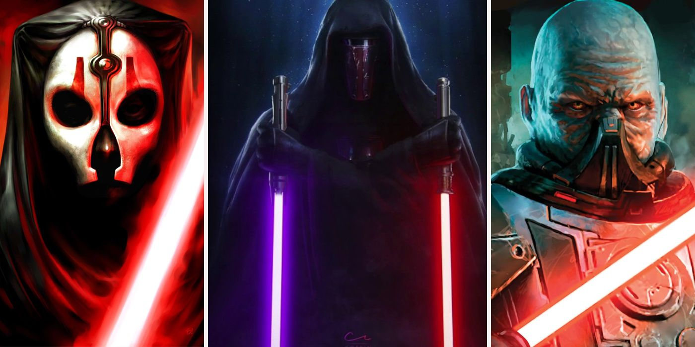 Star Wars 20 Sith Ranked From Least Menacing Looking To Most