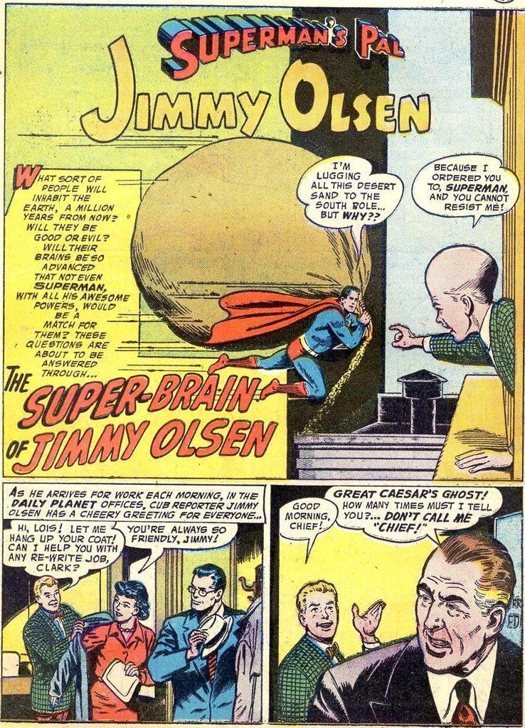 """jimmy olsen 22 - ¿Cuándo dijo Perry White por primera vez """"Por el Fantasma del Gran César"""" en los cómics?"""