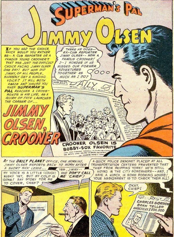"""jimmy olsen 8 - ¿Cuándo dijo Perry White por primera vez """"Por el Fantasma del Gran César"""" en los cómics?"""