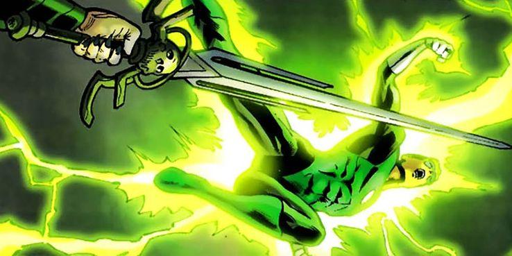 flashing blade - Veinte armas DC que podrían herir o matar a Superman