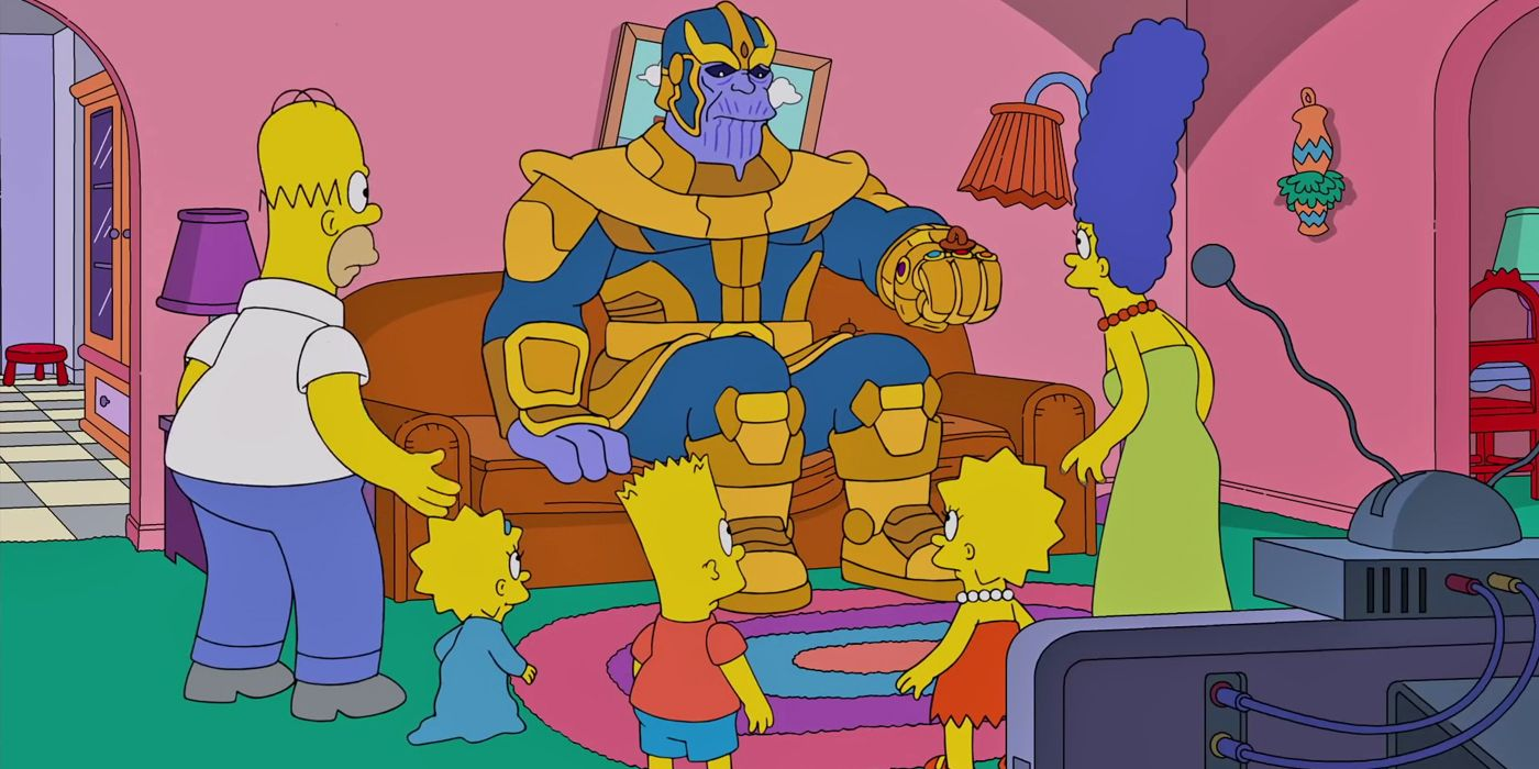 Marvel's Thanos Snaps the Simpsons Away In New Clip