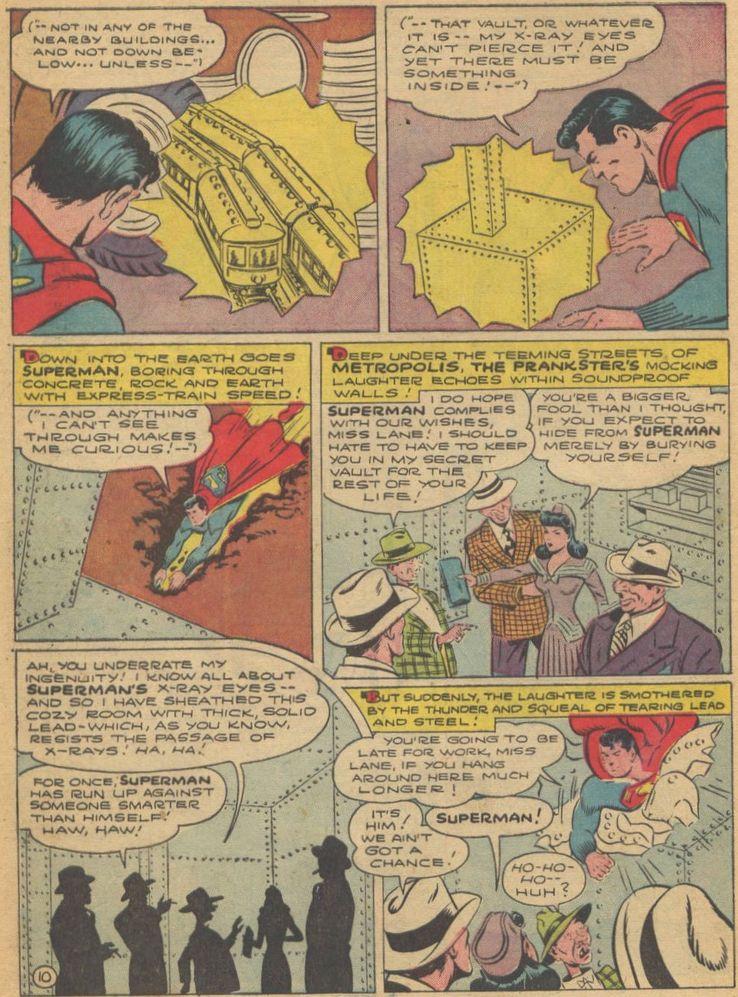 action comics 69 - La primera vez que  Superman derretió plomo con sus poderes de visión