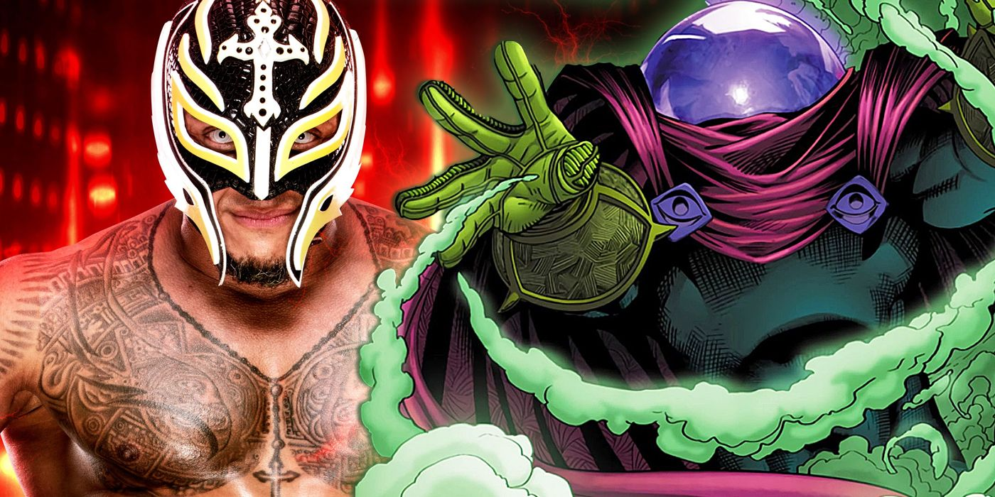 Wrestlemania Rey Mysterio Suits Up As Marvels Mysterio Cbr