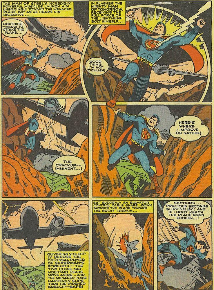 action comics 52 1 1 - La primera vez que Superman salvó un avión en los cómics