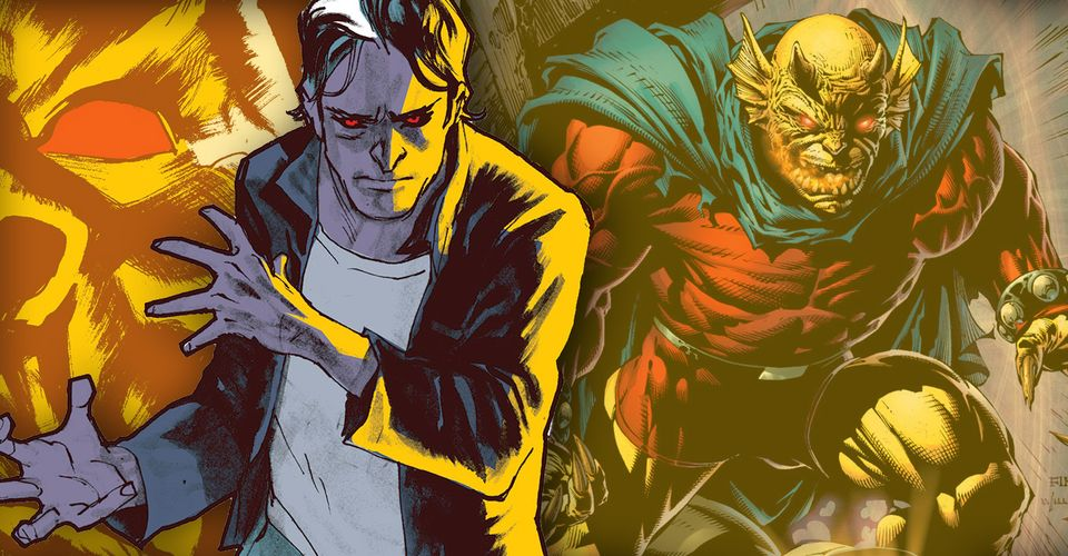 Jason Blood AKA Etrigan in various forms, illustrated. JLD team suggestion.