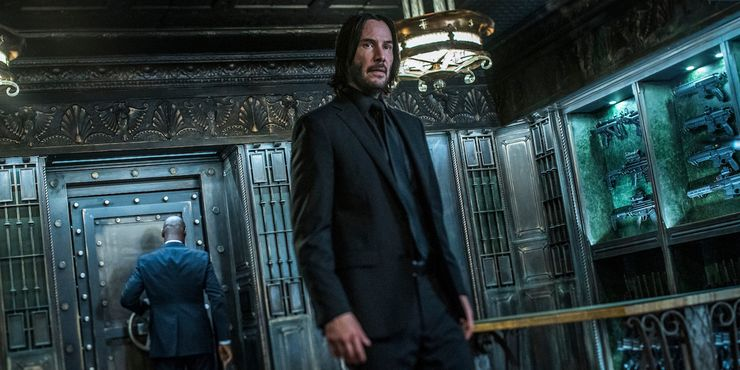 Keanu Reeves as John Wick in John Wick