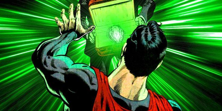 Green Kryptonite and Superman from DC comics - Los 10 tipos más mortales de kryptonita