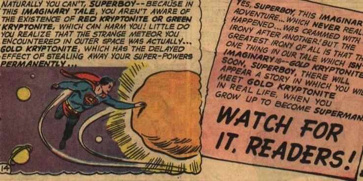 Superman and Gold Kryptonite from DC comics - Los 10 tipos más mortales de kryptonita