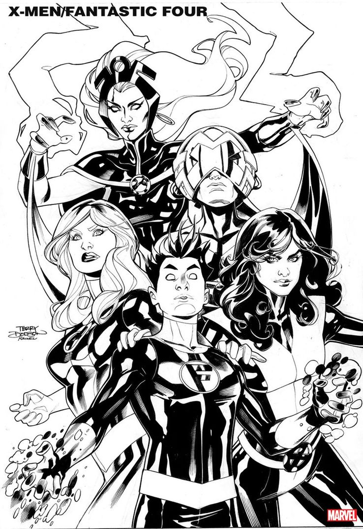 Image result for X-Men/Fantastic Four by Chip Zdarsky and Terry Dodson art