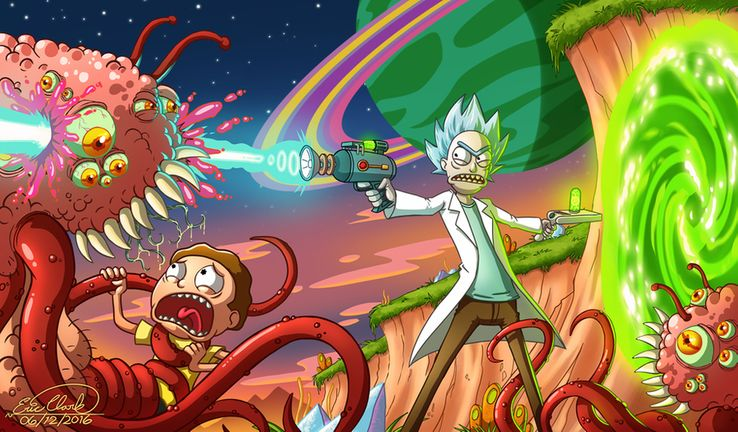 fan art rick et morty zawuinhaff