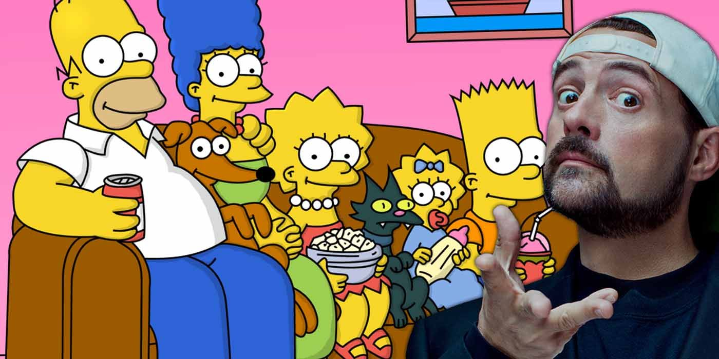 The Simpsons Are Going to Meet Kevin Smith This Season   CBR