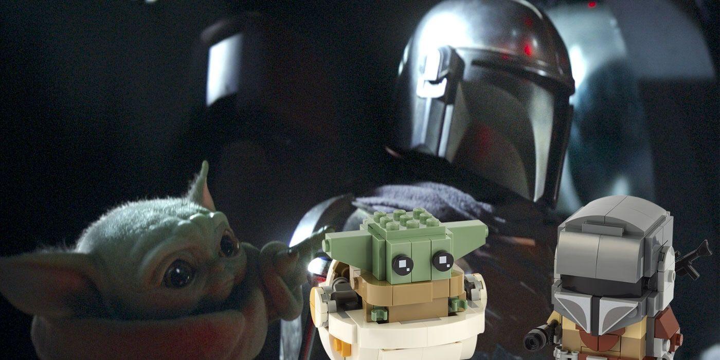 LEGO Reinvents The Mandalorian and Baby Yoda In Brickheadz Form