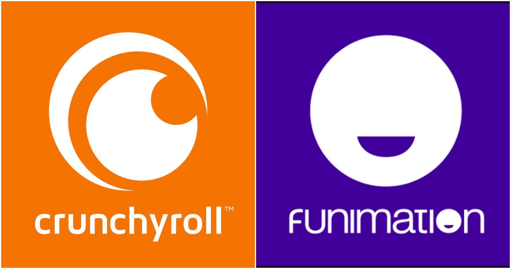 Crunchyroll and Funimation logos.