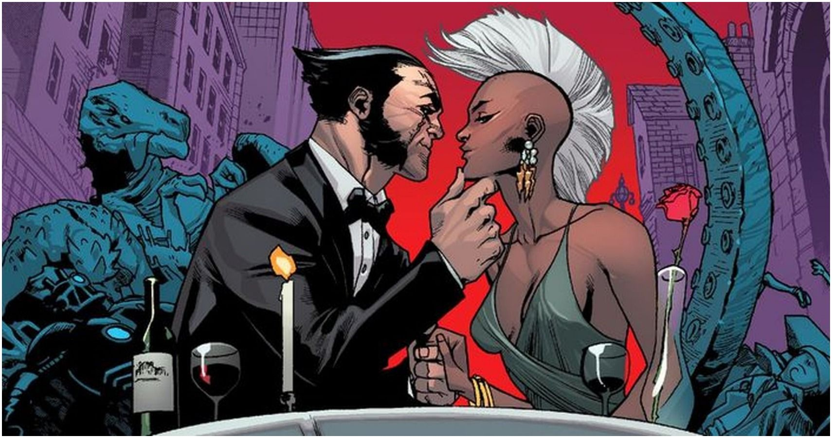did wolverine and storm hook up