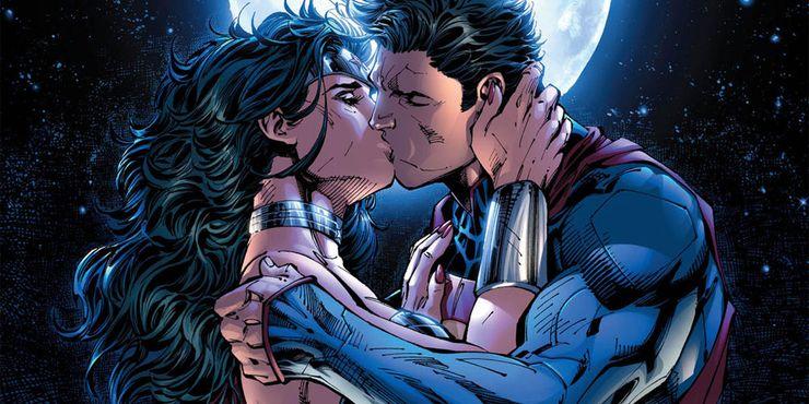 superman kissing wonder woman - Ranking de los 10 amores más grandes de Superman