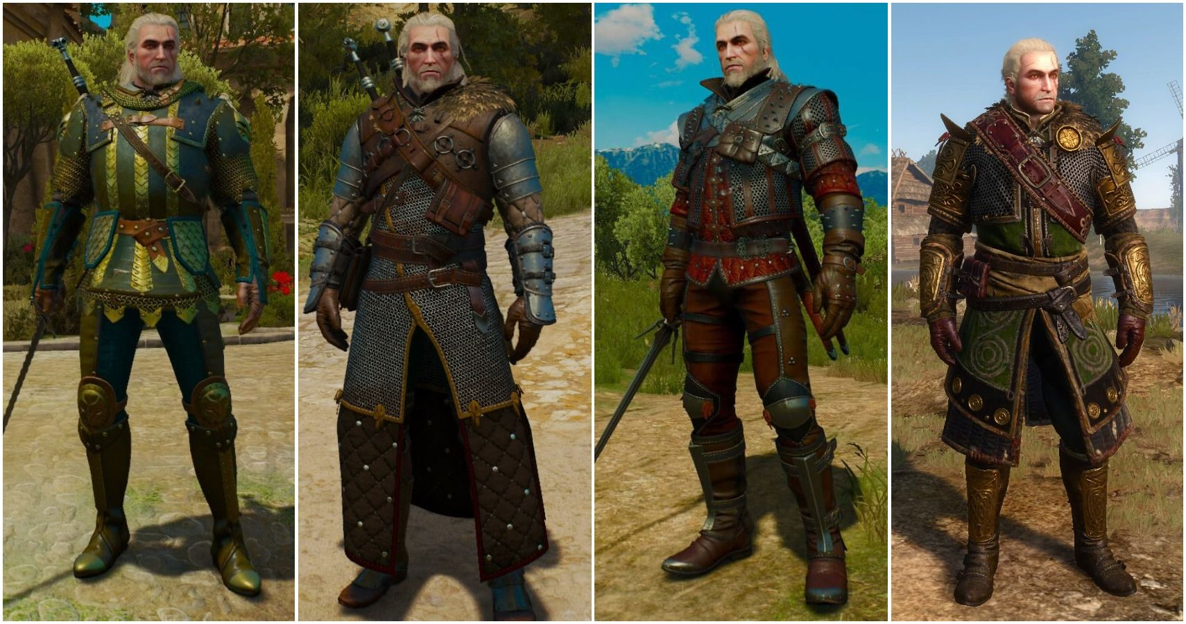 The Witcher 3 The 10 Coolest Looking Armor Sets Ranked Cbr