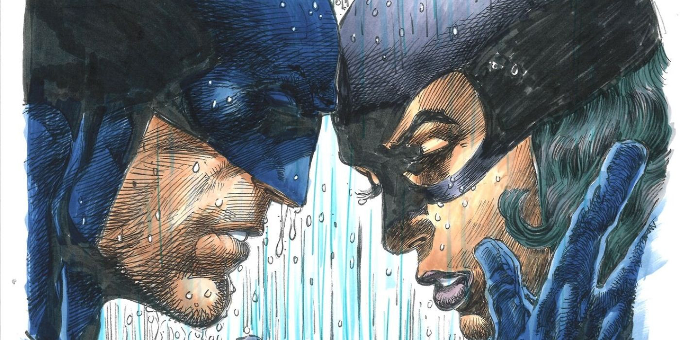 Neal Adams Homages Jim Lee's Batman/Catwoman Art with a Late-'70s Twist