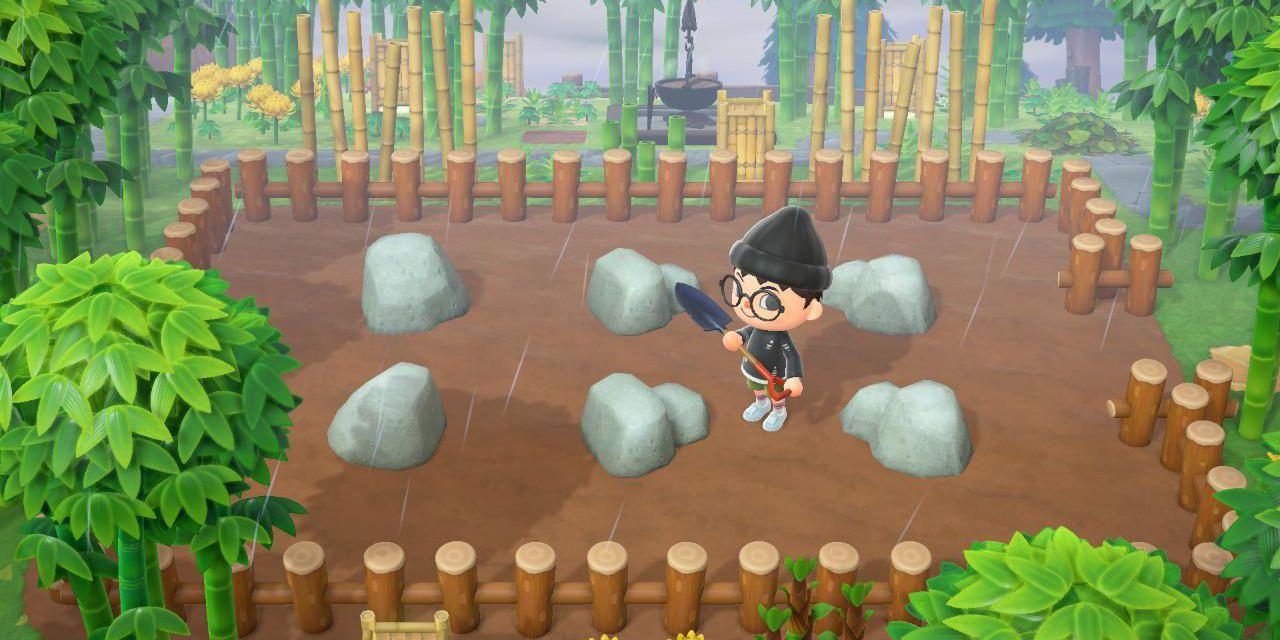 Animal Crossing New Horizons How To Build A Rock Garden Cbr