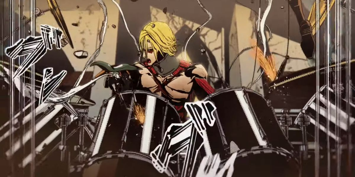 Asahi Wonda Coffee Combines Attack on Titan Anime With YOSHIKI for a Monstrous, Animated Drum Solo