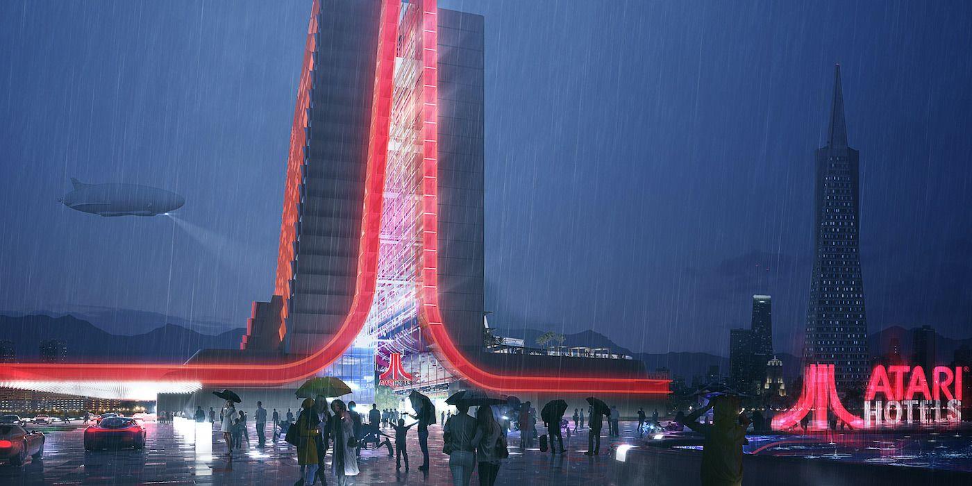 Tron Meets Blade Runner in Atari Hotel Design Images