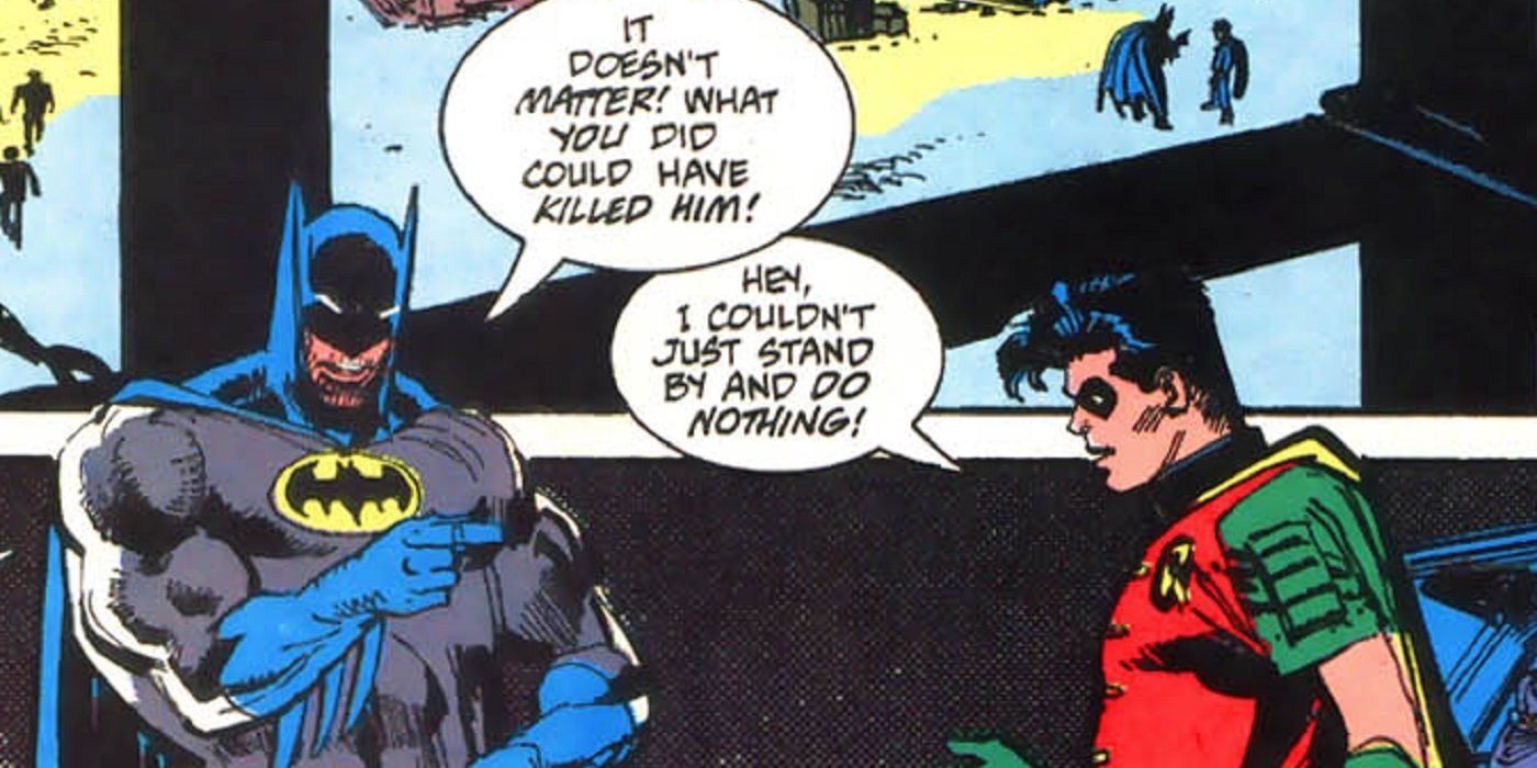 Batman and Robin's Angry Disagreement Right Before Bane 'Broke' Batman, Explained