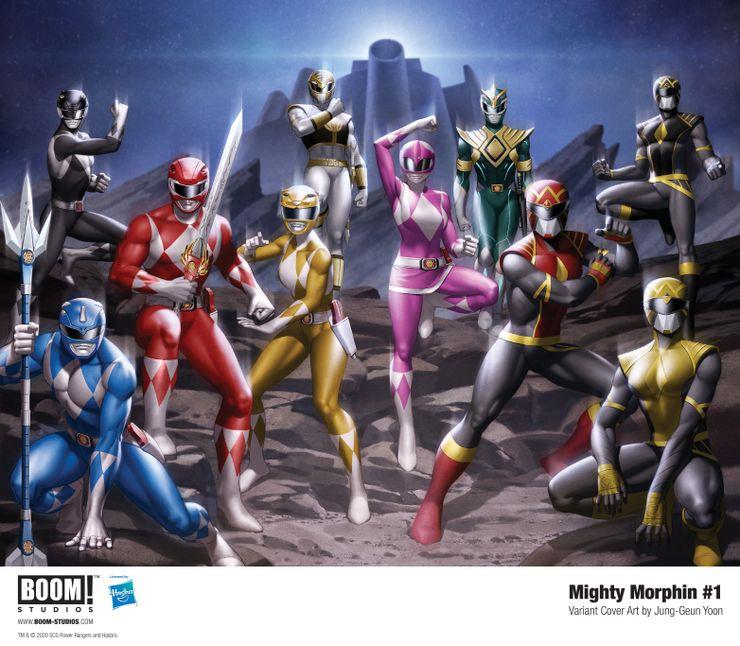 mighty morphin 1 jung geun yoon variant cover