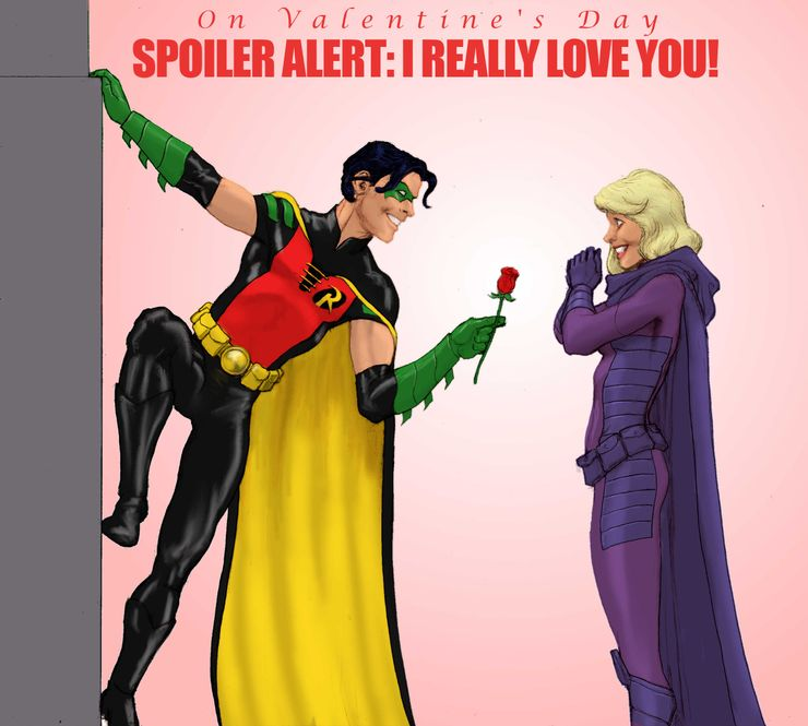 Image result for robin and spoiler burger valentines card