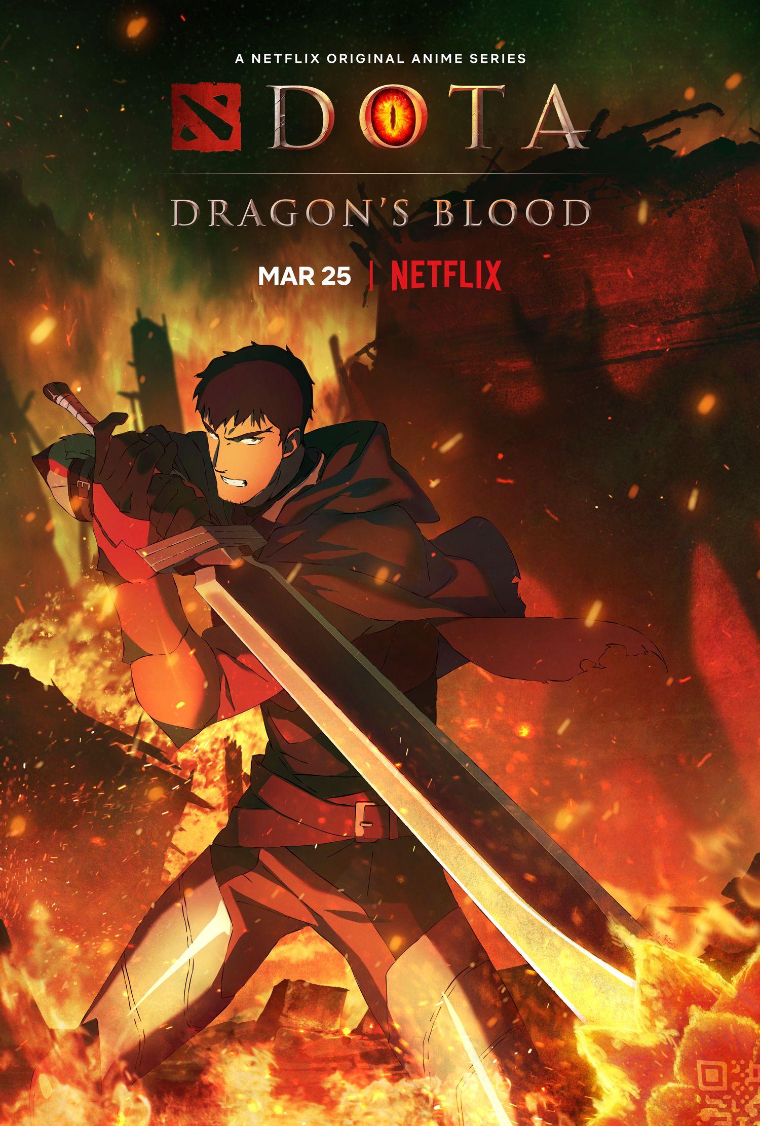 DOTA: Primeiro trailer e pôsteres de Dragon's Blood Drops para a série de anime do Netflix 1