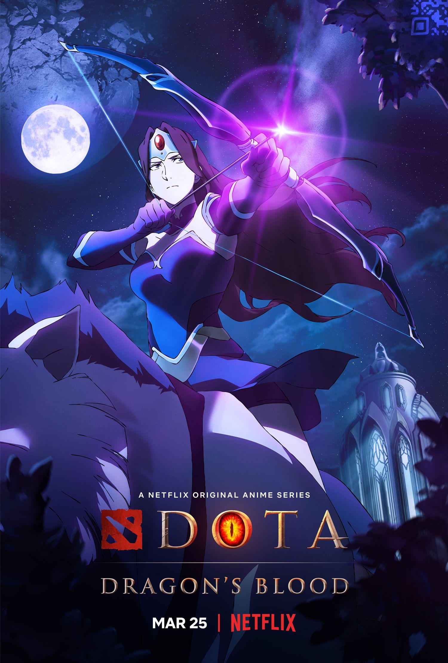 DOTA: Primeiro trailer e pôsteres de Dragon's Blood Drops para a série de anime do Netflix 2