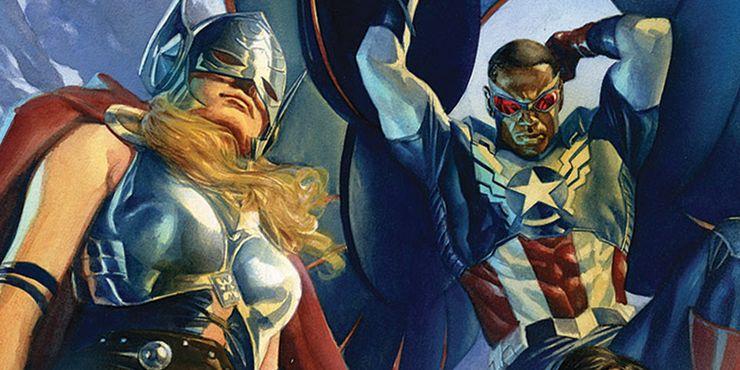 Jane Foster Thor Sam Wilson Capitán América