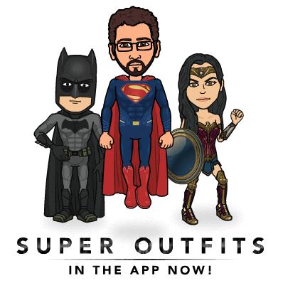 Dress Your Bitmoji Like Batman, Superman, and Wonder Woman
