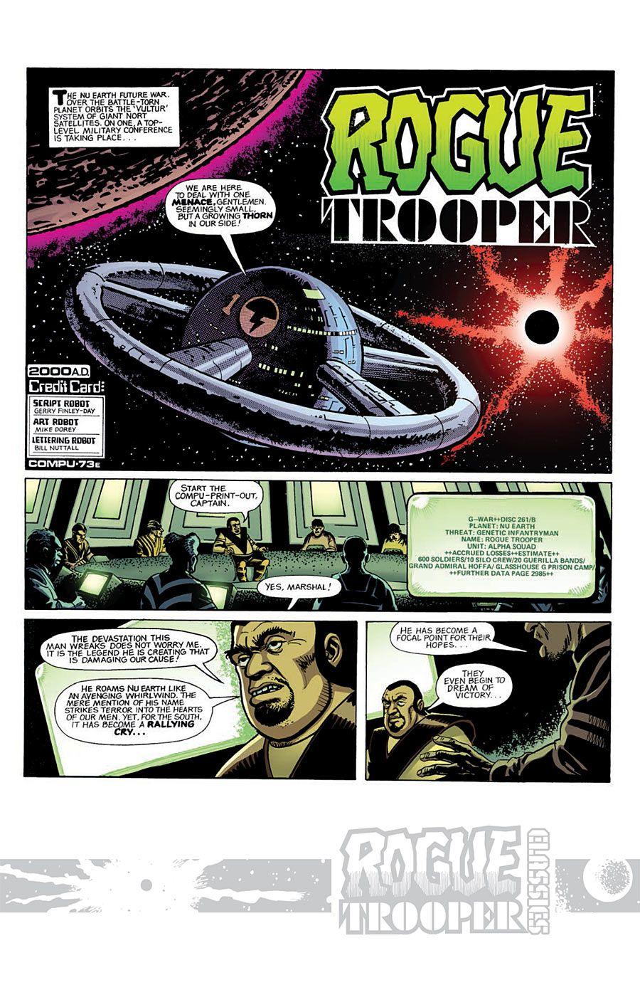 2000AD - Rogue Trooper: Saviour of Fort Neuropa Pin-Up (Cam ... | 1384x900