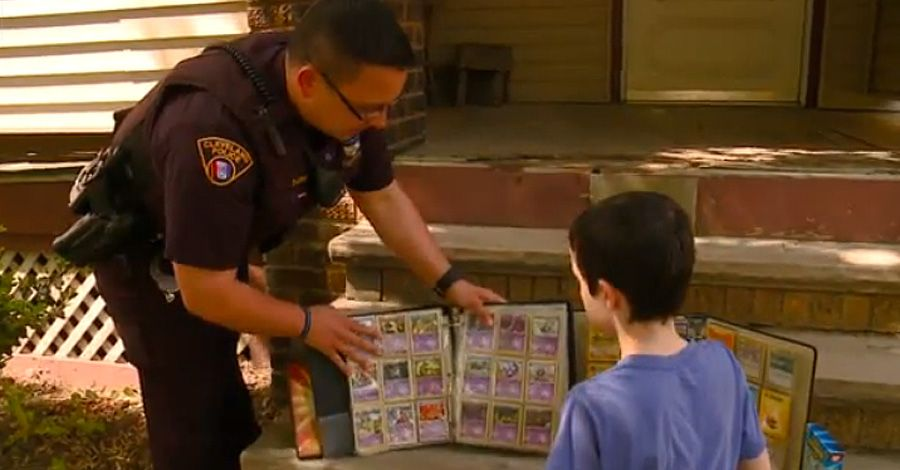 Cop replaces kid's stolen Pokémon cards with his own collection