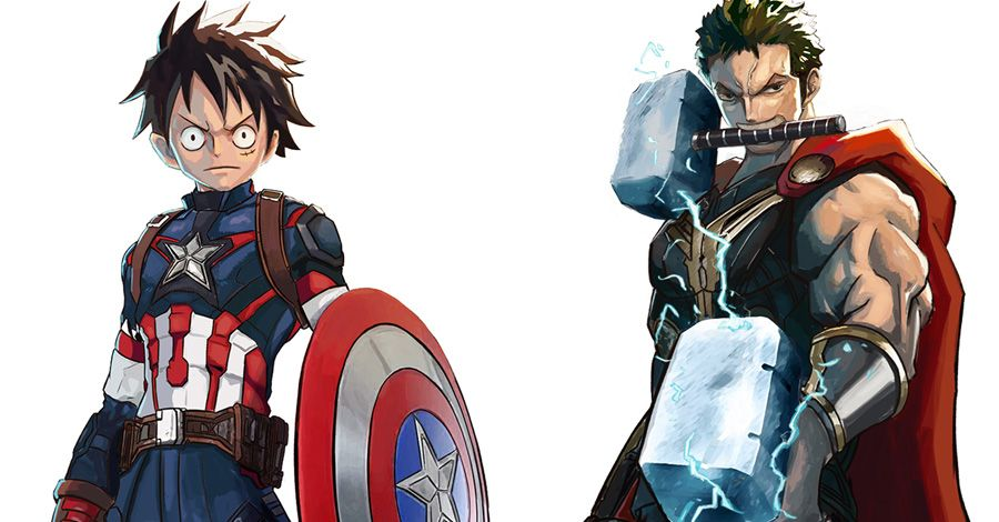 'One Piece' meets the Avengers in this Devil Fruit-fueled mashup
