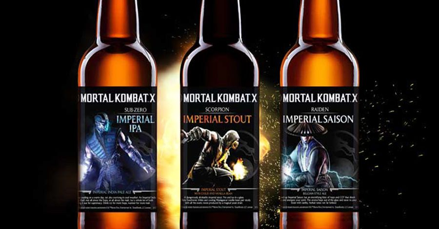 Ready ... drink! 'Mortal Kombat' attacks with its own beer